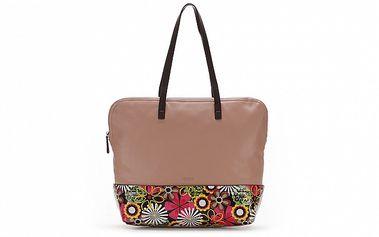 Dámska svetlo ružová kabelka s kvetovaným vzorom Abbacino