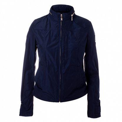 Dámska tmavo modrá bunda so stojačikom Refrigue