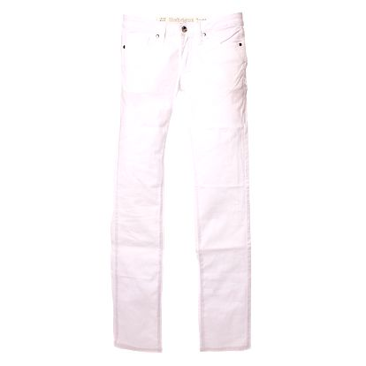 Dámske biele skinny nohavice Refrigue