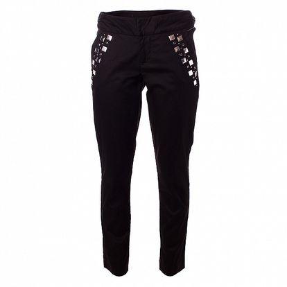 Dámske čierne nohavice Baby Phat s kovovými cvokmi