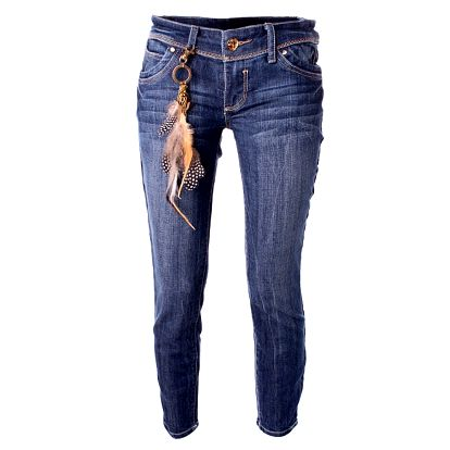 Dámske modré skinny džínsy Baby Phat