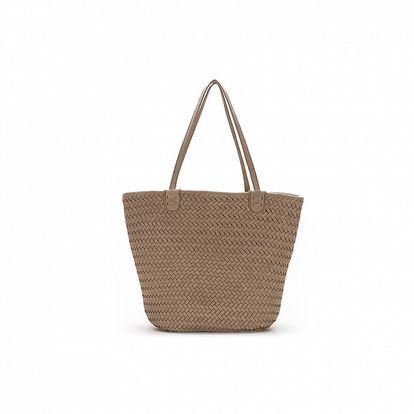 Dámská béžová taška s proplétáním Abbacino