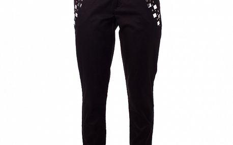 Dámské černé kalhoty Baby Phat s kovovými cvoky