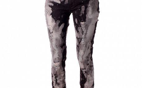 Dámske čierno-šedé džínsy Baby Phat