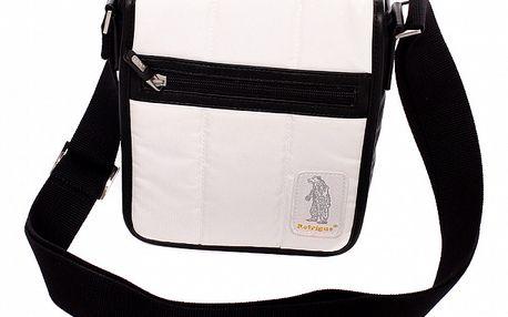 Dámská černo-bílá taška Refrigue