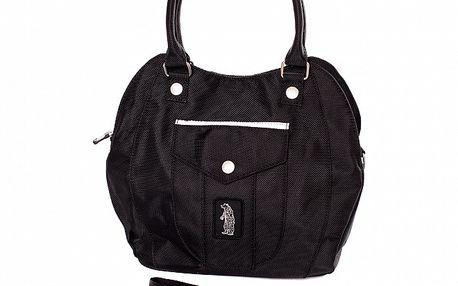 Dámská černá kabelka s malou kapsičkou Refrigue