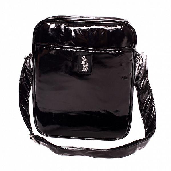 Dámská černá lakovaná taška Refrigue