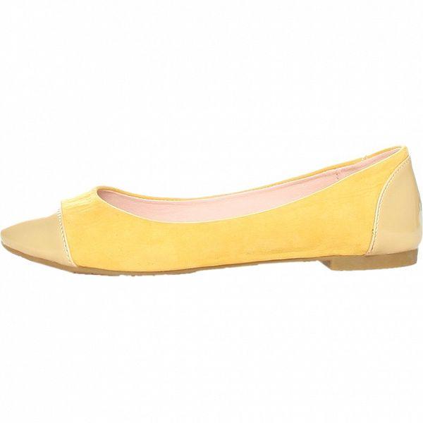 Dámské výrazně žluté balerínky Ana Lublin