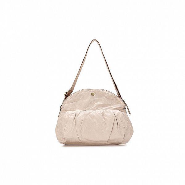 Dámska béžová kabelka s nastaviteľným béžovým popruhom