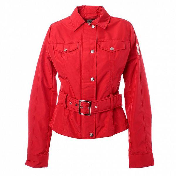 Dámská červená bundička s páskem Refrigue