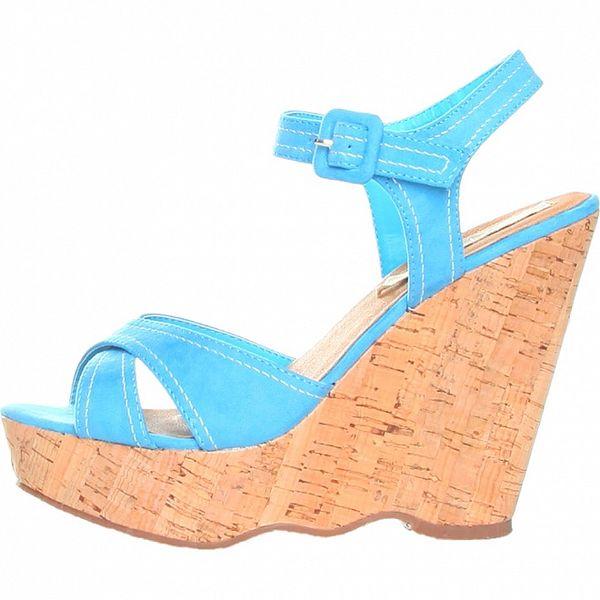Dámské modré sandálky na platformě Ana Lublin