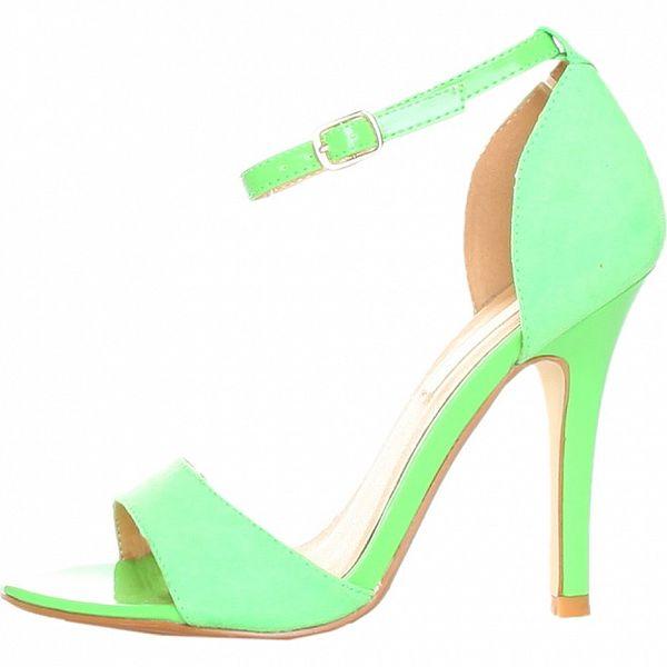 Zelené sandálky s ihlovým podpätkom Ana Lublin