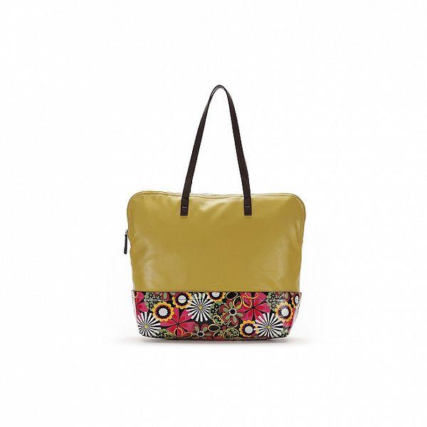 Dámska zelená kabelka s kvetovaným vzorom Abbacino