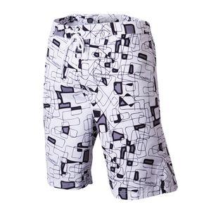 Pánské šortky Alpine Pro bílé fialovo-černý potisk