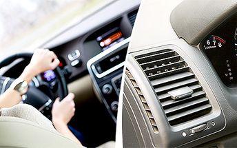 Čištění klimatizace plus vizuální prohlídka vozu