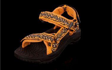 Dětské sandály Alpine Pro oranžovo-hnědé