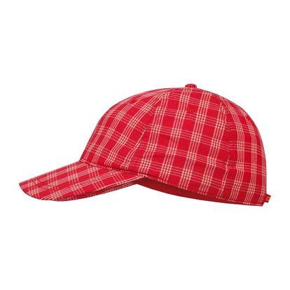 Kšiltovka Alpine Pro červeno-bílá kostkovaná
