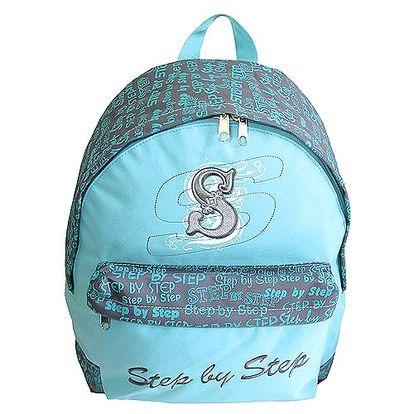 Trendový textilní batoh z kolekce Step by Step, barva modrá jeans. Akční sleva na celý sortiment