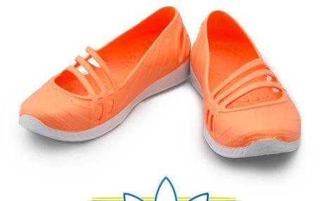 Balerínky Adidas v oranžové barvě
