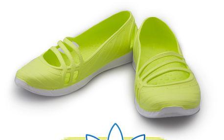 Balerínky Adidas v limetkové barvě