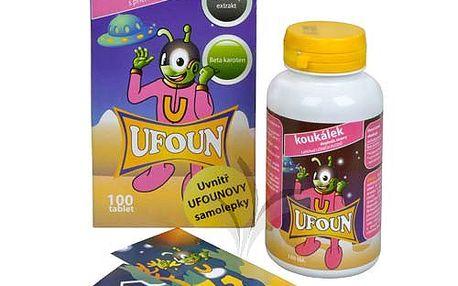 Ufoun koukálek 100 tbl. - komplex anthokyanosidů a beta karotenu ve formě cucavých tablet