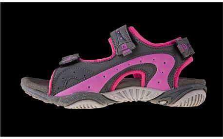 Dětské sandály Alpine Pro černo-růžové
