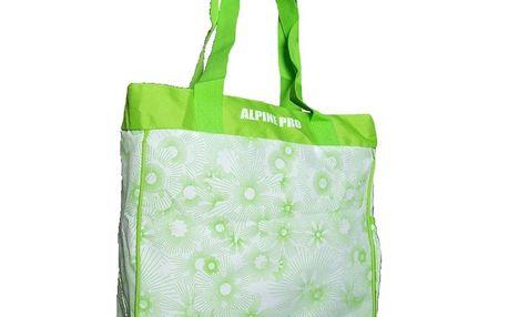 Dámská taška Alpine Pro zeleno-bílá vzorovaná