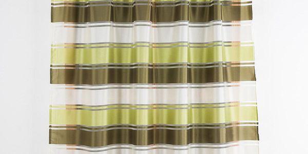Polontex Závěs se širokým pruhem zelená, 140 x 180 cm