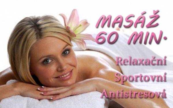 60 min ANTISTRESOVÉ, RELAXAČNÍ, nebo SPOROTVNÍ masáže v Salonu Michelská na Praze 4! Možnost 120 min celotělové masáže!