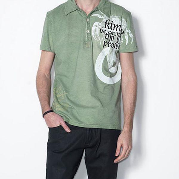 Zelené polo triko