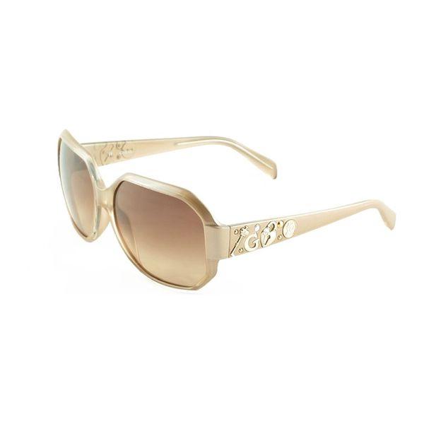 Dámské sluneční brýle Guess krémově béžové zdobené