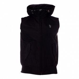 Pánska čierna vesta Refrigue s kapucňou