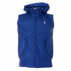 Pánska sýto modrá vesta Refrigue s kapucňou