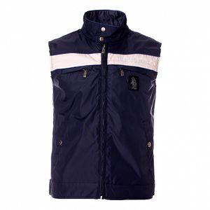 Pánska modrá vesta Refrigue s bielym pruhom