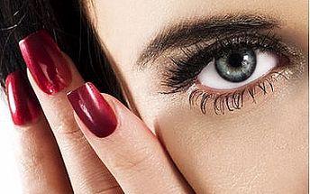 Úprava a barvení obočí s mikromasáží očního okolí nebo barvením řas