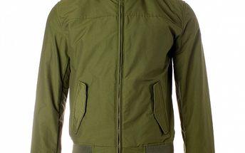 Pánska khaki jarná bunda Refrigue s kapucňou