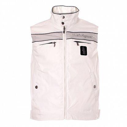 Pánska biela vesta Refrigue so šedým pruhom