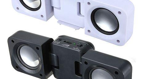 Přenosné stereo repráčky pro mobilní telefony, přehrávače nebo notebooky a poštovné ZDARMA! - 122