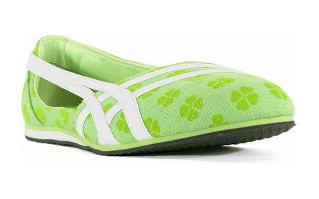 Dámské baleríny Asics zelené květované
