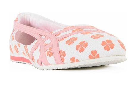 Dámské baleríny Asics bílo-růžové květované