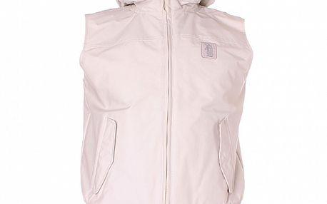 Pánska biela vesta Refrigue s kapucňou