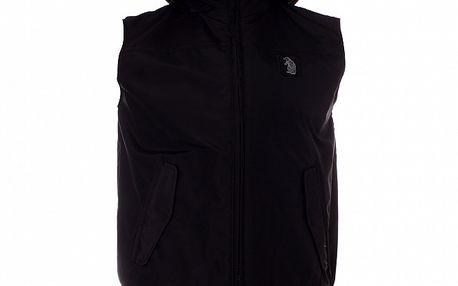 Pánská černá vesta Refrigue s kapucí