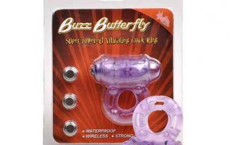 Vodotěsný erekční kroužek se super silnými vibracemi- Buzz Butterfly