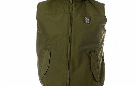 Pánska khaki vesta Refrigue s kapucňou
