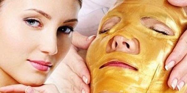Exkluzívna pleťová maska s obsahom zlata a kolagénu (3 ks)