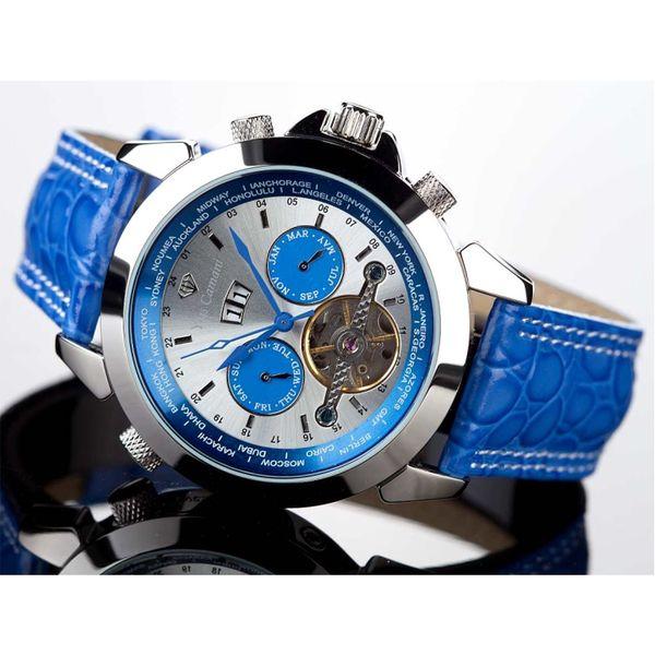 Hodinky Yves Camani modro-stříbrné