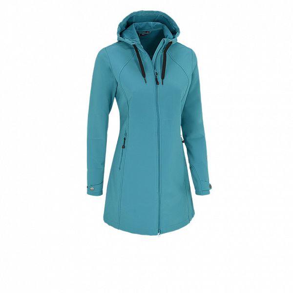 Dámsky tyrkysový softshellový kabátik Maier s membránou
