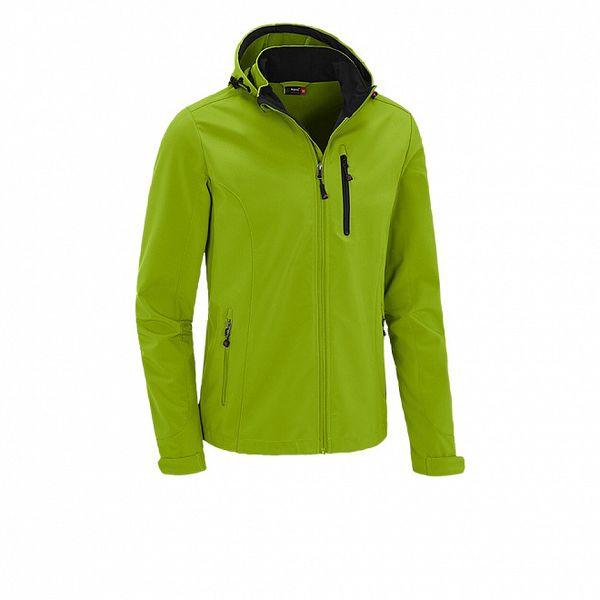 Pánská limetkově zelená softshellová bunda Maier s kapucí a membránou