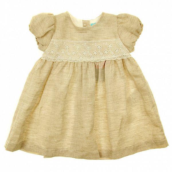 Dětské béžové šaty Lullaby
