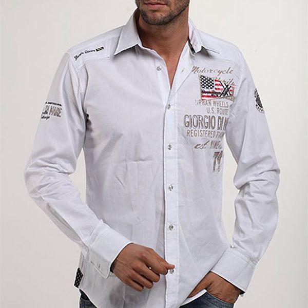 Bílá košile Motorcycle